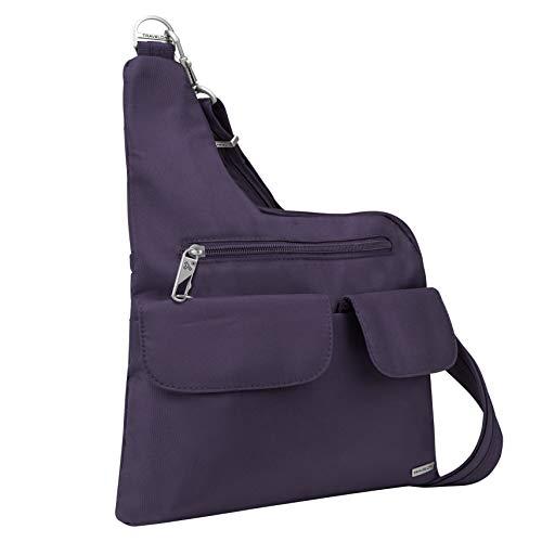 Travelon: Anti-Theft Classic Crossbody Bag - Dark Purple - Polyester