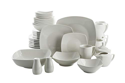 Gibson Home Zen Buffetware 39 Piece Dinnerware Set , White