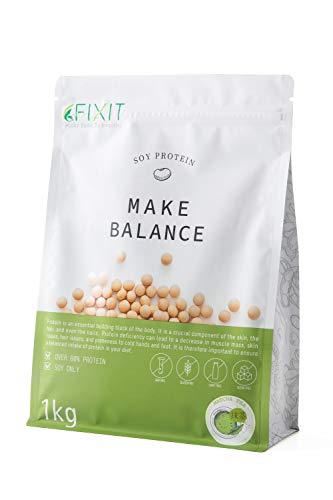 FIXIT プロテイン ソイプロテイン MAKE BALANCE 1kg 【抹茶】たんぱく質含有量80%以上