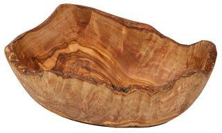 Ciotola per snack, diametro: circa 12 cm, in legno di ulivo