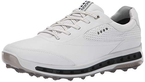 ECCO 2018 GORE-TEX Cool Pro Mens Dritton Leather Golf Shoe [White/Black/Transparent, EU 42= 7.5-8UK]