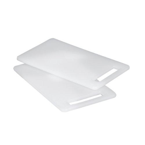 Zeller 26051 Lot de 2 Planches à découper en Plastique Blanc 25 x 15 cm
