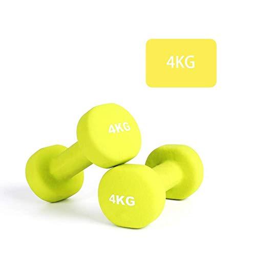 AYHa Dip Dumbbells Damen Fitness Sportausrüstung Schulter und Rücken-Übungen für Training Kraft Dumbbells Matte Gefühl Grün 5kg