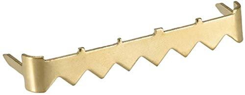 Dibujar garfio Frame Cuadro colgado No Nail Diente de Sierra de la Foto Perchas, 2 Pulgadas Nailess Chapado en Zinc for Colgar Frame, 50 Pcs (Golden)