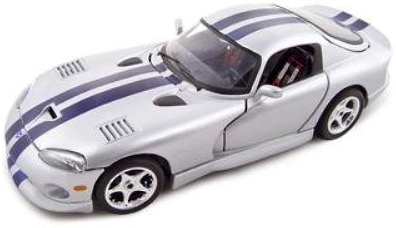 Bburago 2011 gold 1 18 Silver Dodge Viper GTS Coupe
