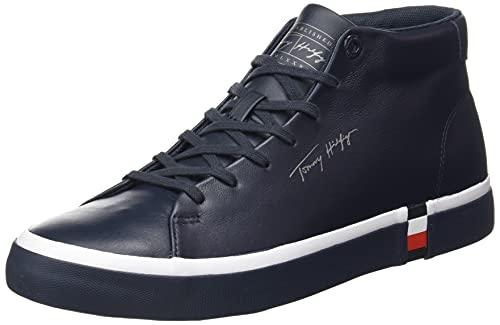 Tommy Hilfiger Corporate High Modern Vulc Lea, Zapatillas Hombre, Blue, 41 EU
