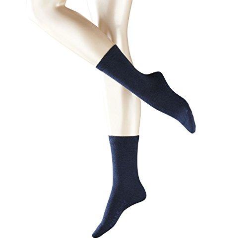 FALKE Damen Socken Family 2er Pack, Größe:35-38;Farbe:Navy Blue Melange (6499)