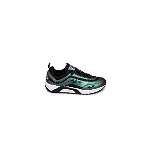 Emporio Armani EA7 Nero Scarab Sneaker Trainer, (Scarabeo Nero), 40 EU