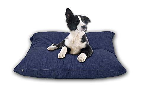 Cieffepi Home Collections FIDO - Cuscino sfoderabile per Cani, Gatti e Animali Domestici in Vari Colori e Misure (60 x 60 x 15 cm, Blu)