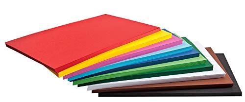 500 Blatt Tonkarton Tonpapier DIN A4 viele Farben 160g/qm Großhandelspackung farbig sortiert Tonpapier Karton Papier Zeichpapier Bastelpapier Bastelkarton