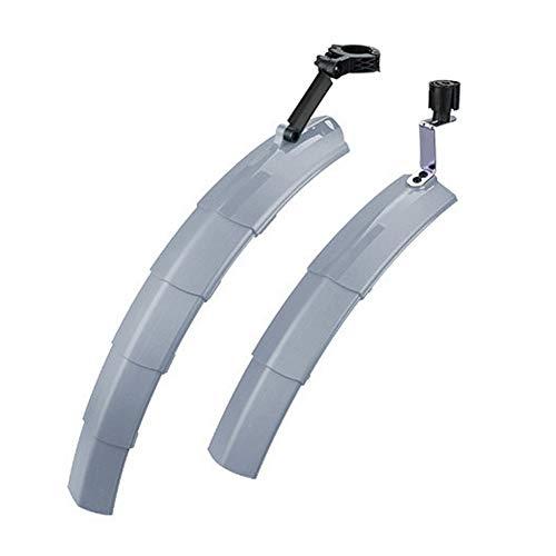 Garde-boue pliable rétractable pour vélo de route avec feu arrière pour VTT, vélo de route, BMX, accessoire de vélo (gris)