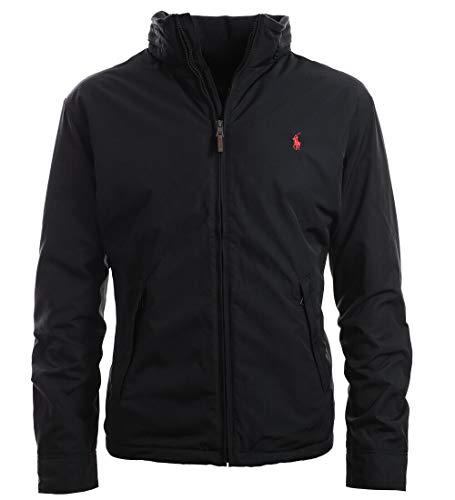 Polo Ralph Lauren Men's Full Zip Perry Jacket, Black (XL)