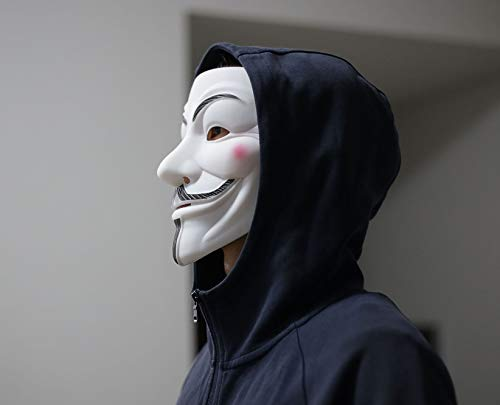 DukeTea Hacker Mask for Kids, Anonymous Mask Halloween Costume Cosplay Masquerade Party