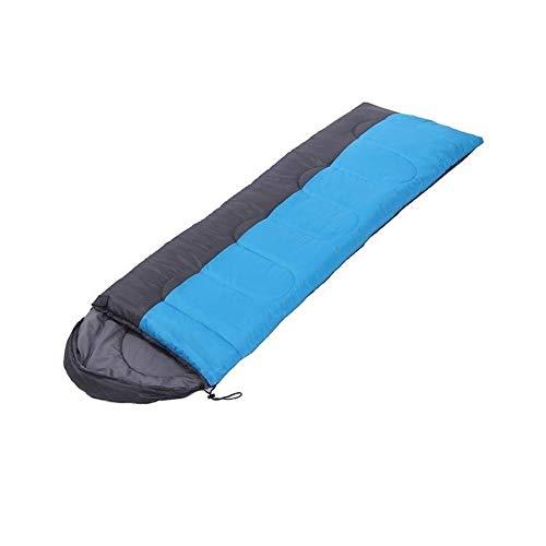 Sac de couchage simple enveloppe 3 saison Sac de couchage résistant for le camping compact et léger et l'eau for un sommeil confortable chaud pour D'interieur Extérieur (Color : Blue, Size : 1800g)
