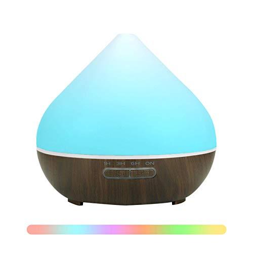 Demiawaking Diffusore di Aromi per Ambienti Diffusore di Oli Essenziali 500ML USB Umidificatore con 7 Colori LED Diffusore Atomizzatore di Essenze e Aromi per Yoga, Camera da Letto, Soggiorno (Scuro)