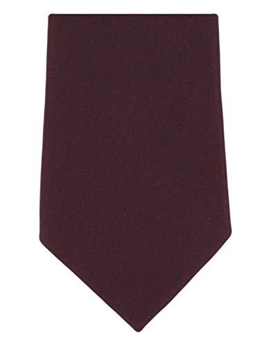 Michelsons of London Cravate en soie uni vin de