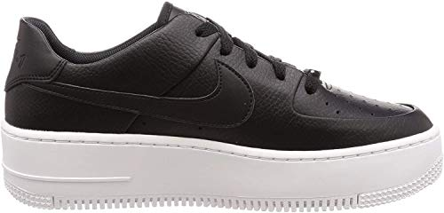 Nike Womens Air Force Sage Low Trainers (9, Black/White)