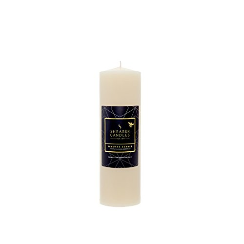 Shearer Candles Beeswax Medium Church Candle - Ivory