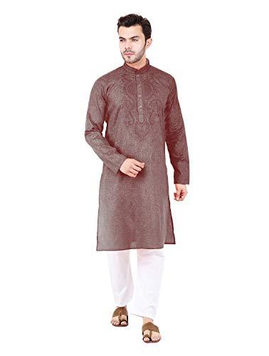 Fervenzi Cotton Kurta Pajama Set For Men Ethnc Casual Dress