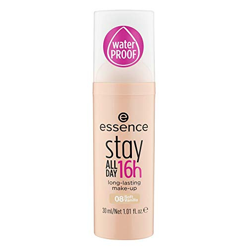 essence stay all day 16h long-lasting make-up 08 soft vanilla - 3er Pack