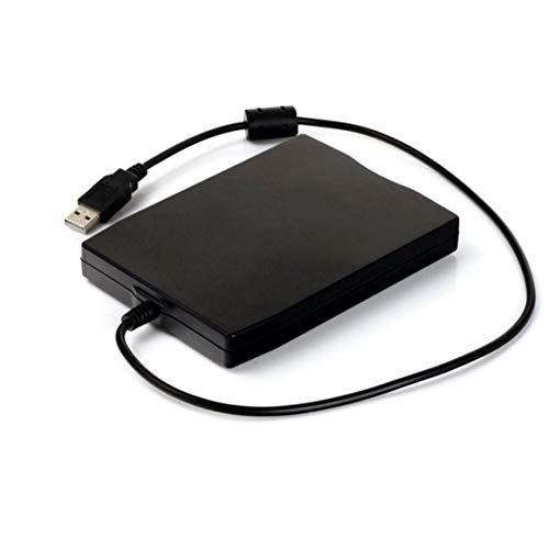 3,5 Zoll 1,44 MB FDD Schwarz USB Tragbare externe Schnittstelle Diskette FDD Externes USB-Diskettenlaufwerk für Laptops Paperllong®