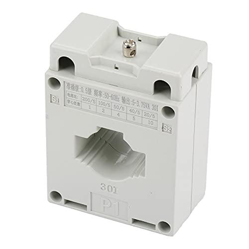 Transformador de corriente, orificio de 30 mm Transformador de corriente Primario Secundario 5A Inductor mutuo Retardante de llama Fácil de instalar