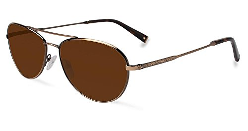 Rem eyewear John Varvatos Lunettes de soleil mâle doré antique avec cadran Marron V798gol-58