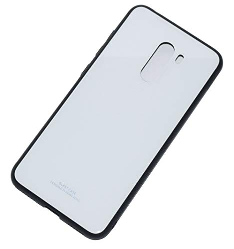Kepuch Quartz Case Capas TPU &Voltar (Vidro Temperado) para Xiaomi Pocophone F1 - Branco