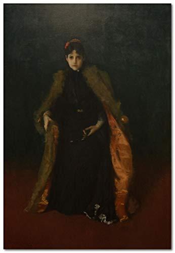 Kit de pintura al óleo DIY, kit de pintura por números para niños y adultos-Retrato de la Sra. Chase ﹣ William Merritt Chase - 40 * 50 cm (sin marco)