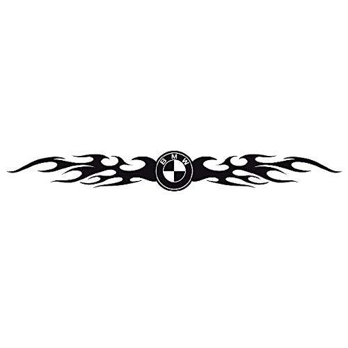 myrockshirt Kompatibel für BMW Logo Tribal Tattoo Aufkleber Autoaufkleber Sticker Auto`+ Bonus Testaufkleber Estrellina-Glückstern ®, gedruckte Montageanleitung