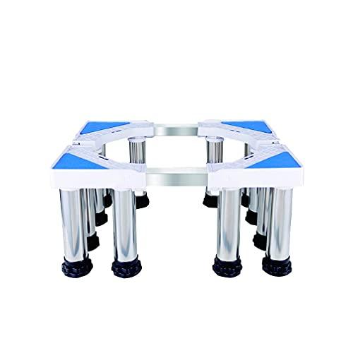 Heavy Duty Washing Machine Stand Justerbar Kylskåp Frysbas Längd 40-74cm Bredd 48-66cm Höjd Kylskåphållare Fäste Stativ Piedestal för stor träfat - 400kg (Color : 12legs, Size : 14-17cm)