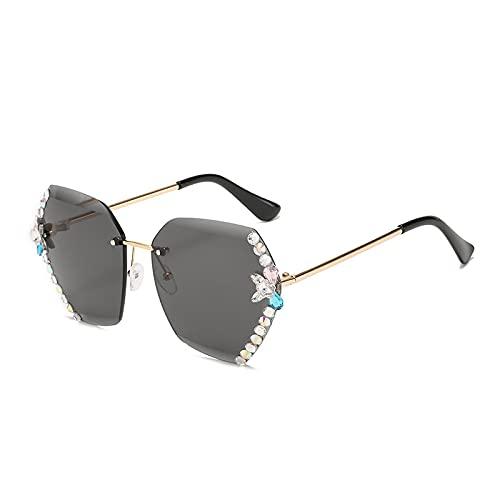 ShZyywrl Gafas De Sol Gafas De Sol De Lujo con Diamantes De Imitación De Moda para Mujer Gafas De SolCuadradas Lentes TransparentesGafas De Sol paraHombre