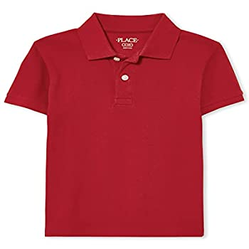 The Children s Place boys Single Short Sleeve Pique Polo Classic Red Medium