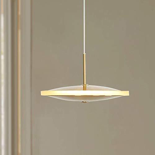 Leniure Brons LED kroonluchter hanger modern hedendaagse plafond hangende lamp 20 cm breed 5,5 cm hoog warmwit 3000K