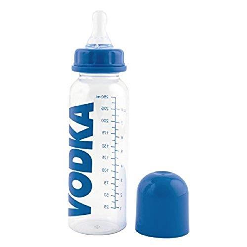 CKB Ltd® Blau Blue Adults Novelty Baby Bottle Neuheit Babyflasche Witz-Geschenk für eine Neue Mama-Babyparty Junggesellinnenabschied - Kunststoff 250ml