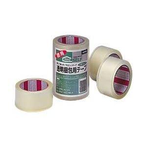 ニットー 透明梱包用テープ カッターなし 1パック(3巻) ×5セット
