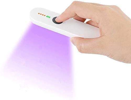 AGM UVC Sterilisationslampe, tragbar, mit 3 LED-Perlen, UVC Sterilisationslampe, UV-Lampe, wiederaufladbar, USB, geeignet für Haus, Auto, Büro, Schule