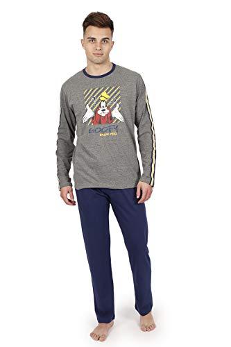 Disney - Pijama DE Hombre DE Invierno Goofy - Gris, XL