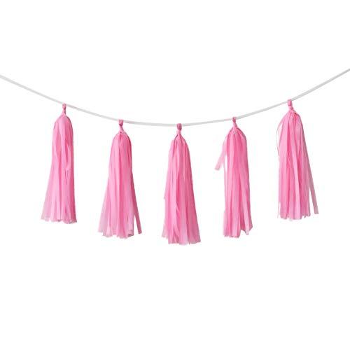 Etophigh aluminiumfolie kwastjes banner bonte slinger hangende decoraties verjaardag baby shower party huwelijk home DIY papier knutselbenodigdheden
