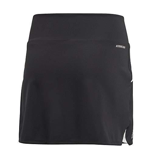 adidas Mädchen G Club Skirt, Black/Matte Silver/White, 1112Y