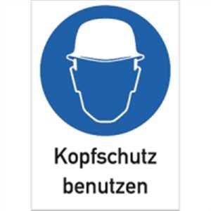Schild hoofdbescherming gebruiken 29,7 x 21 cm PVC