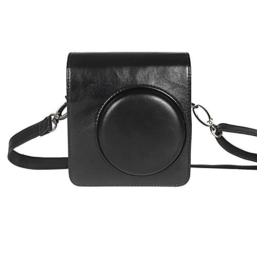 ampusanal Schutzhülle, für Mini 40 Neo Classic Sofortbildkamera - Premium Ledertasche mit abnehmbarem Trageriemen, Vintage Braun Schwarz attractively
