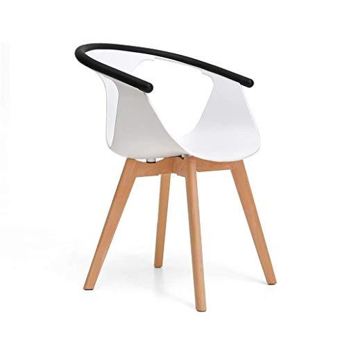 Office Life Stuhl Esszimmerstuhl Frühstück Küche Massivholzrahmen Cafe Modern mit Rückenlehne PP Sitz (Farbe: Grün)