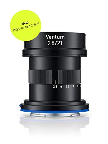 ZEISS Ventum 2.8/21 für spiegellose Vollformat-Systemkameras von Sony (E-Mount), Schwarz