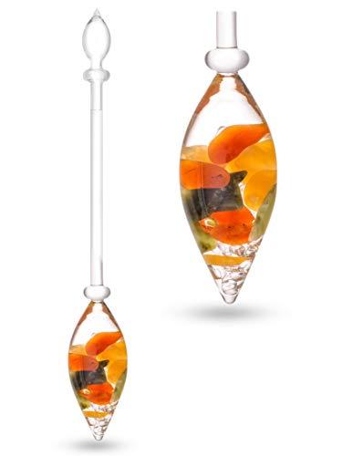VitaJuwel Edelsteen flacon geluk met carneool, jade, oranje calciet en helder kwarts