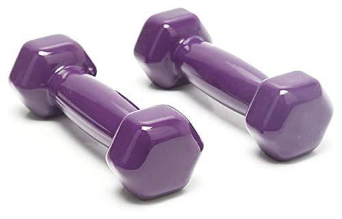 EIIDJFF Mancuernas Ajustables Mancuerna Hexagonal De Goma para Hombres Y Mujeres Conjunto De Barra De Mano para Equipos De Entrenamiento De Fuerza En Casa (Color : Purple, Talla : 3kg)