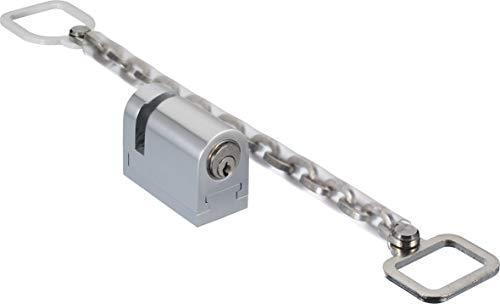 Yale Türgriffkette, Silberfarben mit Druckzylinder und zwei Schlüsseln