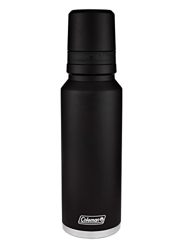 Coleman 3Sixty Pour Insulated Stainless Steel Thermal Bottle, Black, 40 oz.