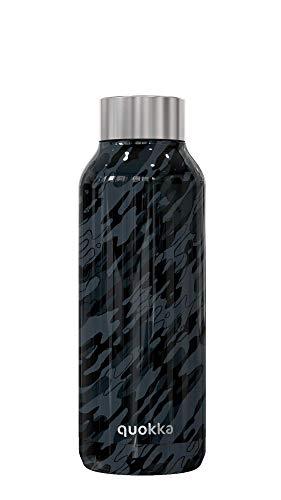 Quokka Solid - Camo 510 ML | Botellas De Agua Acero Inoxidable Sin BPA |Botella Térmica De Doble Pared - Mantiene el frío y el Calor para Niños y Adultos