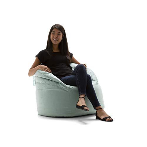 Big Joe Stack Chair, Turquoise Plush Bean Bag -